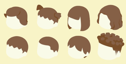 とび 森 髪の毛